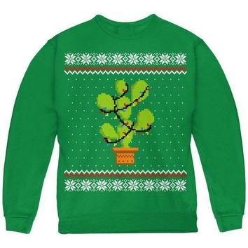 PEAPGQ9 Cactus Prickly Pear Tree Ugly Christmas Sweater Youth Sweatshirt