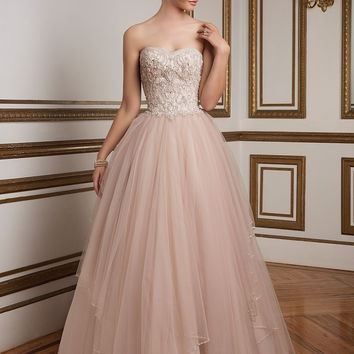 Justin Alexander 8847 Strapless Beaded Bodice Ball Gown Wedding Dress