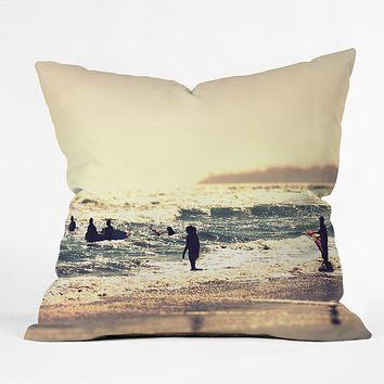Shannon Clark Sunset Surfers Throw Pillow