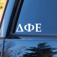 Delta Phi Epsilon Car Decal | Delta Phi Epsilon Car Sticker | Delta Phi Epsilon Sorority | Delta Phi Epsilon Laptop | Greek Sticker | 171