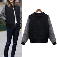Plus Size Women's Fashion Cardigan Sleeve Sweater [9509483780]