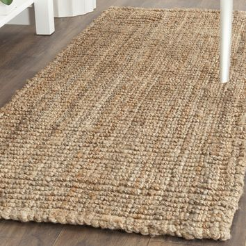 "Safavieh Natural Fiber Collection NF447A Hand Woven Natural Jute Runner (2'6"" x 6')"