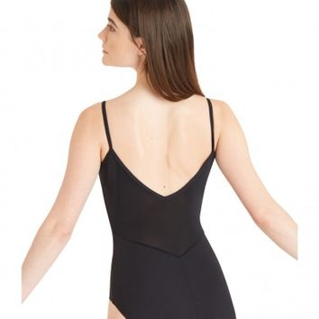 CAMISOLE LEOTARD WITH SHEER INSERTS