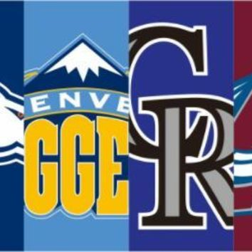 Denver Broncos Flag Colorado Avalanche Colorado Rockies flag 3x5ft new design flags with 2 grommet