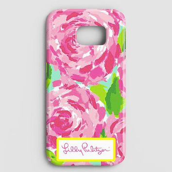 Lilly Pulitzer First Impression Rose Inspired Samsung Galaxy S7 Edge Case | casescraft