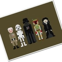 Pixel People - Star Wars - Enemies - PDF Cross stitch PATTERN
