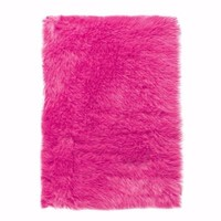 Home Decorators Collection Faux Sheepskin Hot Pink 3 ft. x 5 ft. Area Rug-5248210540 at The Home Depot