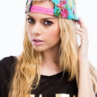 Painted Floral Spray Snapback