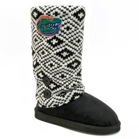 Florida Gators Sweater-Knit Microsuede Boot Slippers - Women