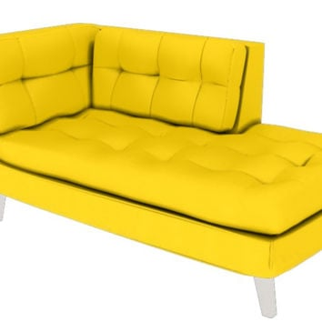 Color Customizable Leather Chaise Lounge Dormeuse Ava by Lazar Industries