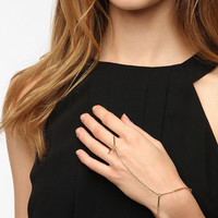 Urban Outfitters - Delicate Bar Ring-To-Wrist Bracelet