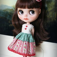 Lovely Garden  Blythe doll set  handmade outfit by by AlmondDoll