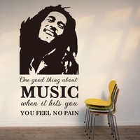 Q031 New Bob Marley Wall Sticker Decals Removable For Livingroom Bedroom Decoration Free Shipping