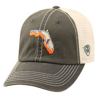 NCAA Top Of The World Florida Gators Charcoal Trucker Adjustable Snapback Hat