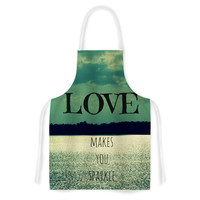 "Robin Dickinson ""Love Makes You Sparkle"" Artistic Apron"