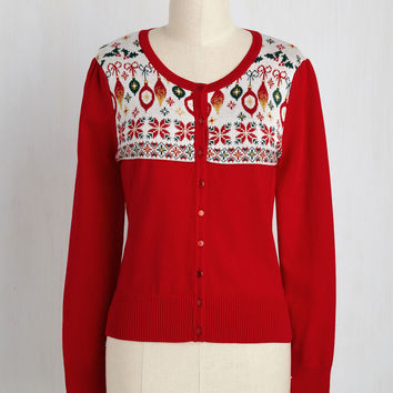Those Were the Holidays Cardigan | Mod Retro Vintage Sweaters | ModCloth.com