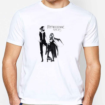 Fleetwood Mac FD Mens T-shirt Black and White