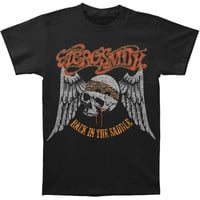 Aerosmith Men's  Back In The Saddle T-shirt Black Rockabilia