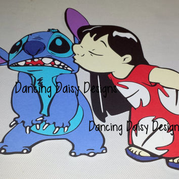 Lilo and Stitch Kiss Disney World die cut paper piecing for scrapbooking