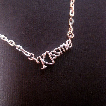 Petite KissMe Pendant Love Necklace or Bracelet
