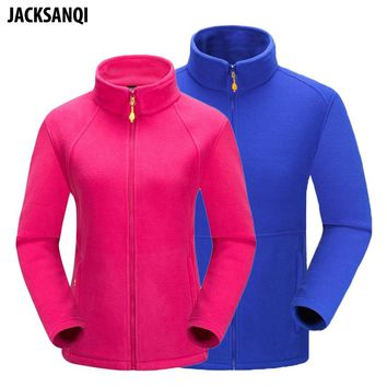 JACKSANQI New Men Women's Winter Fleece Softshell Jackets Outdoor Sport Hiking Camping Climbing Trekking Male Female Coats RA138