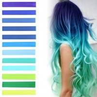 Mermaid Blue Hair Dye | HairChalk set of 12