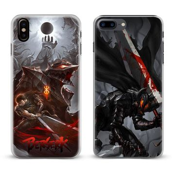 Berserk Guts Anime Cool Logo Coque Phone Case Cover Shell For Apple iPhone X 8Plus 8 7Plus 7 6sPlus 6s 6Plus 6 5 5S SE