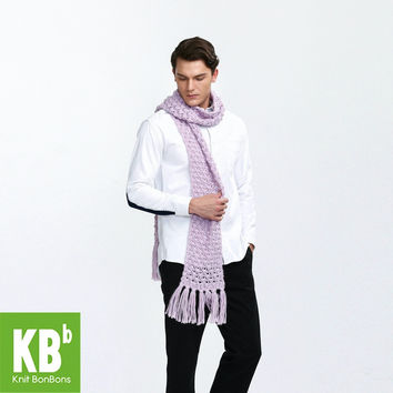 KBB Xmas Black Friday Fall Winter Classic Pure Red Cute Lace Style Warm Winter Yarn Knitted Men Neck Cover Scarf Scarves Wrap
