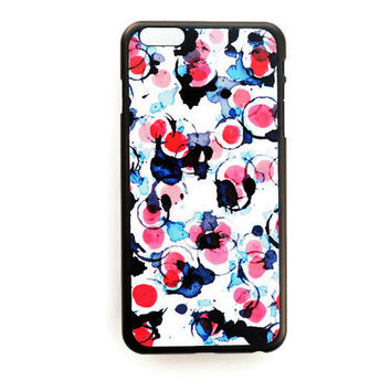 iPhone 6 Plus Case Watercolor Circle Pattern iPhone 6 Plus Hard Case Geometric Back Cover For iPhone 6 Plus Slim Design Case Abstract