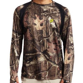 Scent Blocker Men's Bone Collector Camo Long Sleeve Shirt, Mossy Oak Break Up Infinity, Large