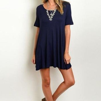 Weekend Vibes T-Shirt Dress - Navy FINAL SALE!