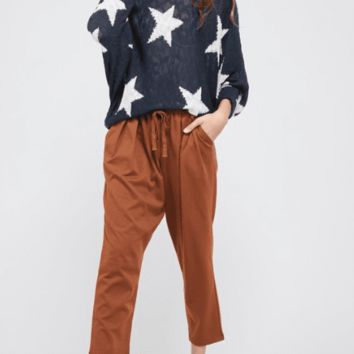 Women's Oversized Dolman Sleeve Star Sweater