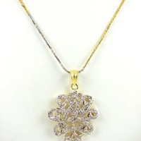 Bollywood Jewelry Designer Cubic Zirconia Necklace Pendant Set with Earrings