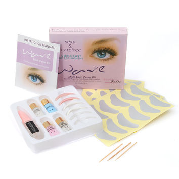 Mini Eyelash Perm Lotion Full Set Super Wave Lash Perming Curler Rod Glue Kit Makep Tool
