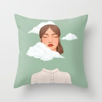 Head in the Clouds Throw Pillow by marylobs