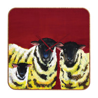 Clara Nilles Lemon Spongecake Sheep Custom Clock