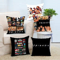 Top Sale Hot Friends TV Show Famous Amazing Custom Throw Pillow Cases Cover Soft Nice Square Invisible Zippered Cool Pillowcase