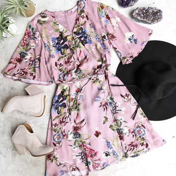 floral print dress - purple