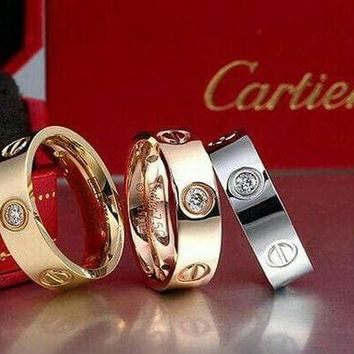 "New Fashion Cute couple rings women ring ""Cartier"" rhinestone ring on simplicity I"