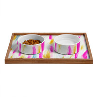 Allyson Johnson Brushed Brightly Pet Bowl and Tray
