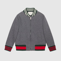 Gucci Children's cotton jacket with Web