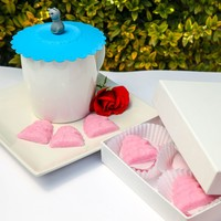 Pink Beehive & Bees Sugar Cubes and Silicone Tea n' Coffee Cup Cover Gift Set • Brin d'Arômes