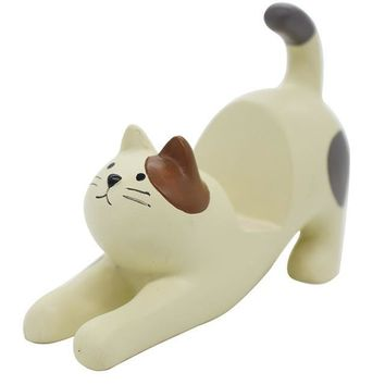 3D Cartoon Cat Resin Phone Stand Desk Accessory