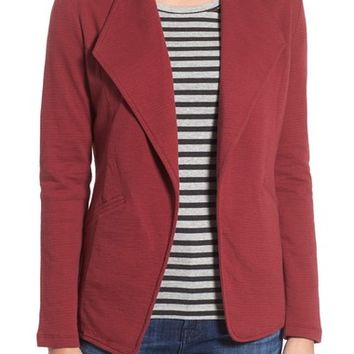 Caslon® Cotton Knit Open Front Blazer (Regular & Petite) | Nordstrom