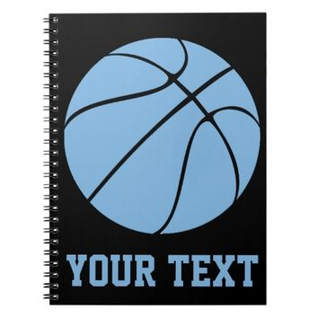 Custom Carolina Blue Basketball Gear Notebook