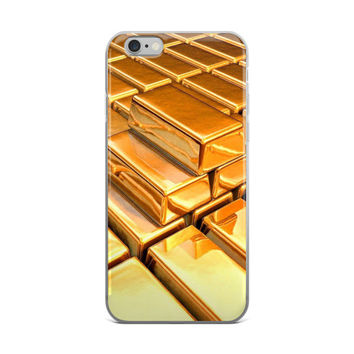 Gold Bricks Painting iPhone 4 4s 5 5s 5C 6 6s 6 Plus 6s Plus 7 & 7 Plus Case