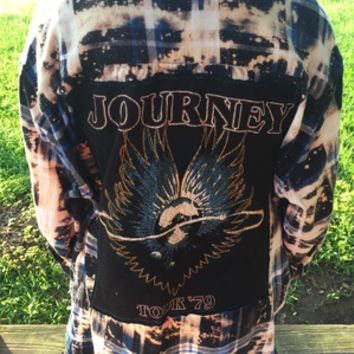 Journey Tour '79 destroyed flannel from PeaceLove&Jewels
