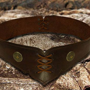 Leather Belt Handmade Medieval Style