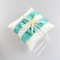 Free Shipping Turquoise Wedding Ring Pillow Wedding Decoration Wedding Accessories Casamento Event & Party Supplies