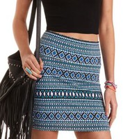 Geometric Print Bodycon Mini Skirt by Charlotte Russe